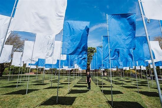 In Memoriam, the flag installation by Luke Jerram.